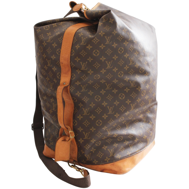 Louis Vuitton Monogram Sac Marin GM XL Duffel Bag Travel Tote + Shoulder  Strap at 1stdibs 753466b43e0