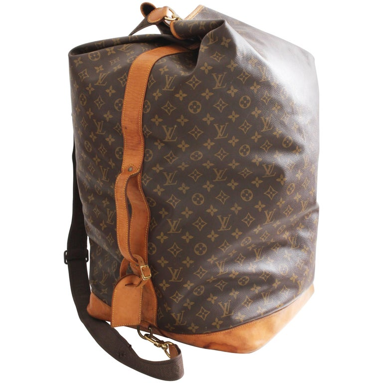 Louis Vuitton Monogram Sac Marin GM XL Duffel Bag Travel Tote + Shoulder Strap