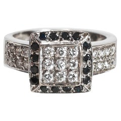 18 Karat White Gold and Pave Diamond Engagement Ring