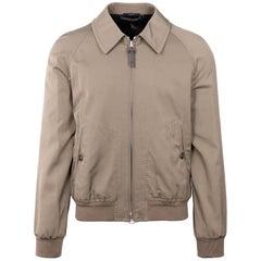 Tom Ford Men Brown Cotton Blend Sartorial Zip Jacket Size 48/38~RTL$3550