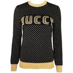 Gucci Black & Gold Guccy Sega Sweater