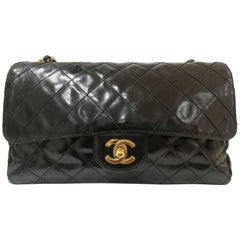 1997 Limited Edition Chanel Black 2.55 Gold tone Hardware Bag