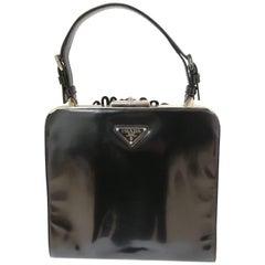 Prada Black patent leather Flower Bag
