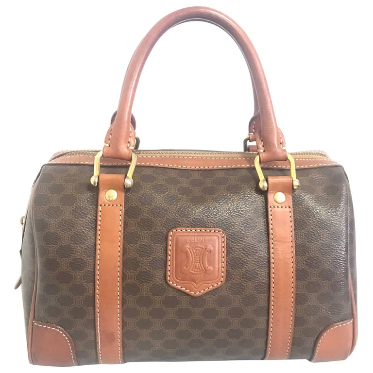 Vintage Celine Mini Duffle Bag Sdy Style Handbag With Macadam Blaison Logos