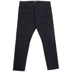 Tom Ford Selvedge Denim Jeans Black Wash Size 40 Regular Fit Model
