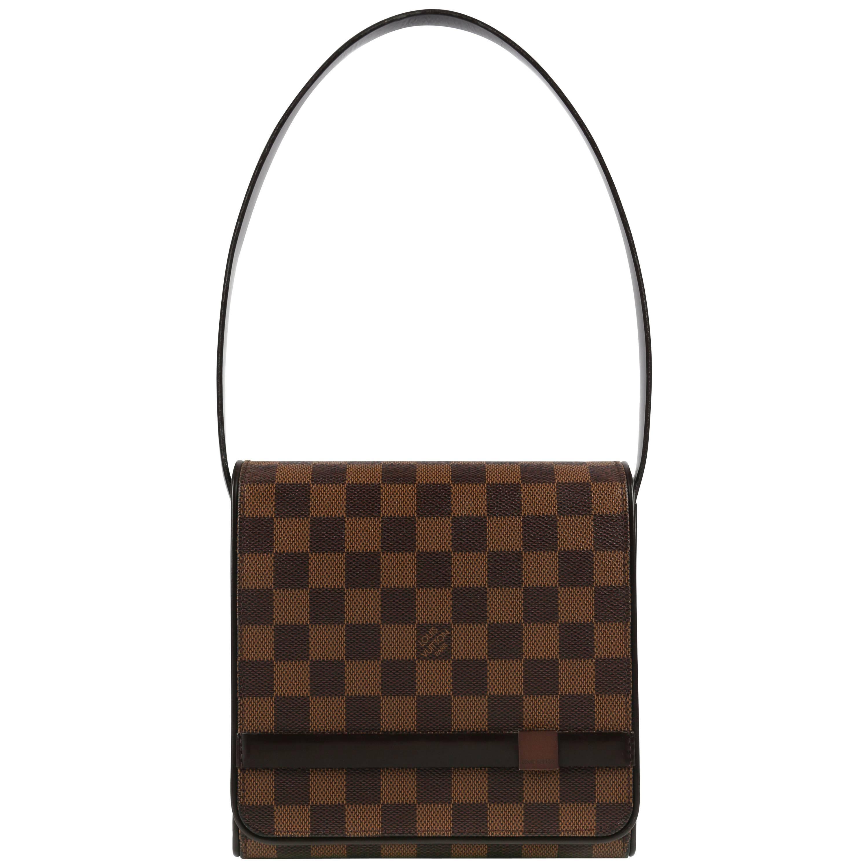 Louis Vuitton C.2001 tribeca Mini Brown Damier Ebene Flap Top Shoulder Bag RXmyqb