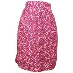 Louis Feraud 1980s Cotton Pink Skirt Size 6.