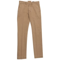 Tom Ford Cotton Light Brown Chino Pants Size 32 Slim Fit Model