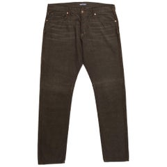 Tom Ford Denim Jeans Brown Wash Size 38 Regular Fit Model