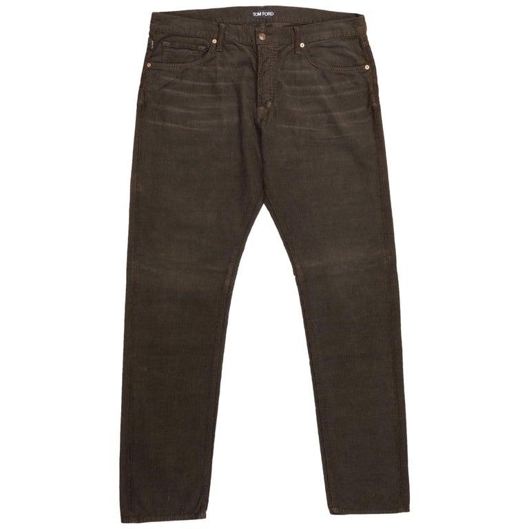 Tom Ford Denim Jeans Brown Wash Size 38 Regular Fit Model For Sale