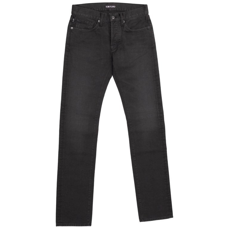 om Ford Denim Jeans Dark Grey Wash Size 28 Straight Fit Model For Sale