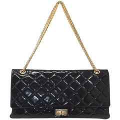 Chanel Re-Issue Black Patent Leather Handbag
