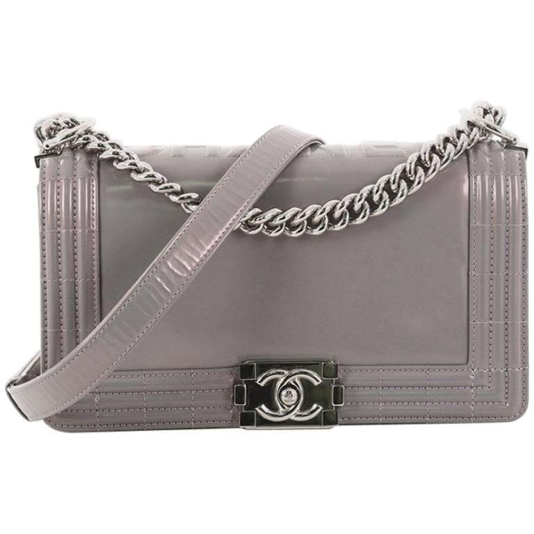 a8bd773f04f Chanel Reverso Boy Flap Bag Glazed Iridescent Calfskin Old Medium For Sale