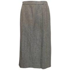 Guy Laroche Black/White Wool Skirt