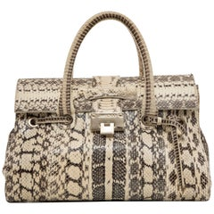 Jimmy Choo Python Rosalie Top Handle Handbag