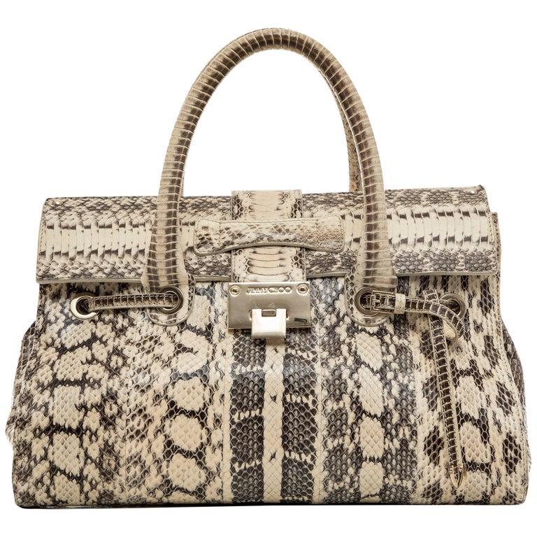 Jimmy Choo Python Rosalie Top Handle Handbag