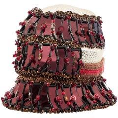Prada Runway Embellished Cloche Hat, Spring  2005