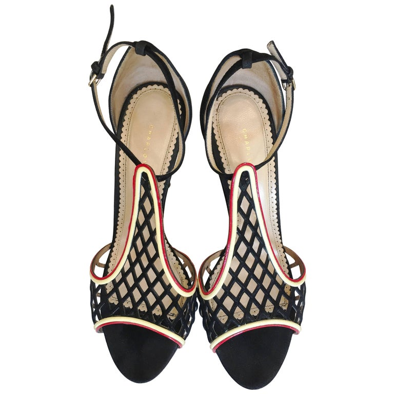 Charlotte Olympia Suede Stiletto Heels Size 42