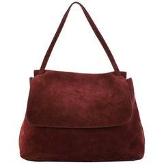 The Row Top Handle 14 Bag Suede Medium