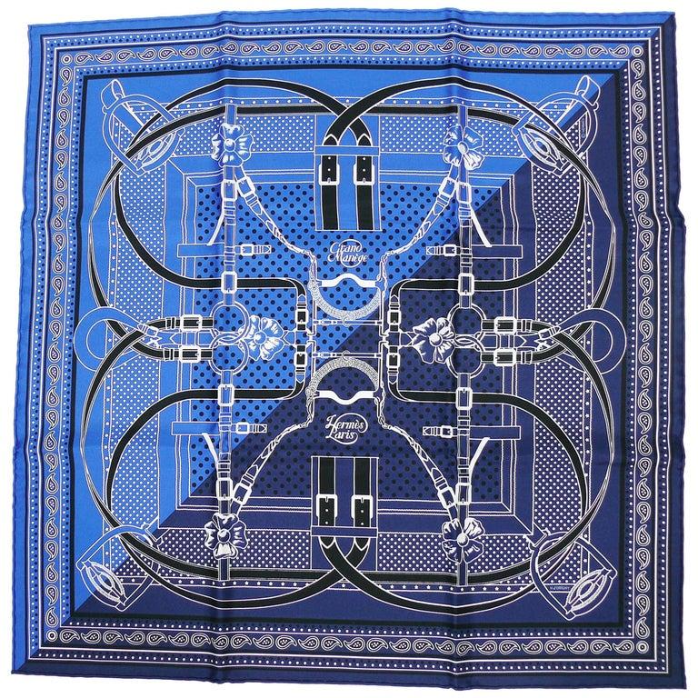 """Hermes Silk Bandana """"Grand Manège"""" by Henri d'Origny"""