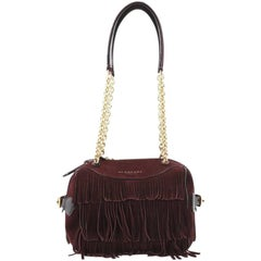 Burberry Alchester Chain Bowling Bag Suede Mini