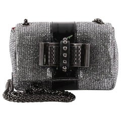 Christian Louboutin Sweet Charity Crossbody Bag Glitter Leather Mini