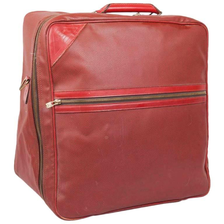 LOUIS VUITTON Vintage Limited Edition Soft Suitcase in Red Leather