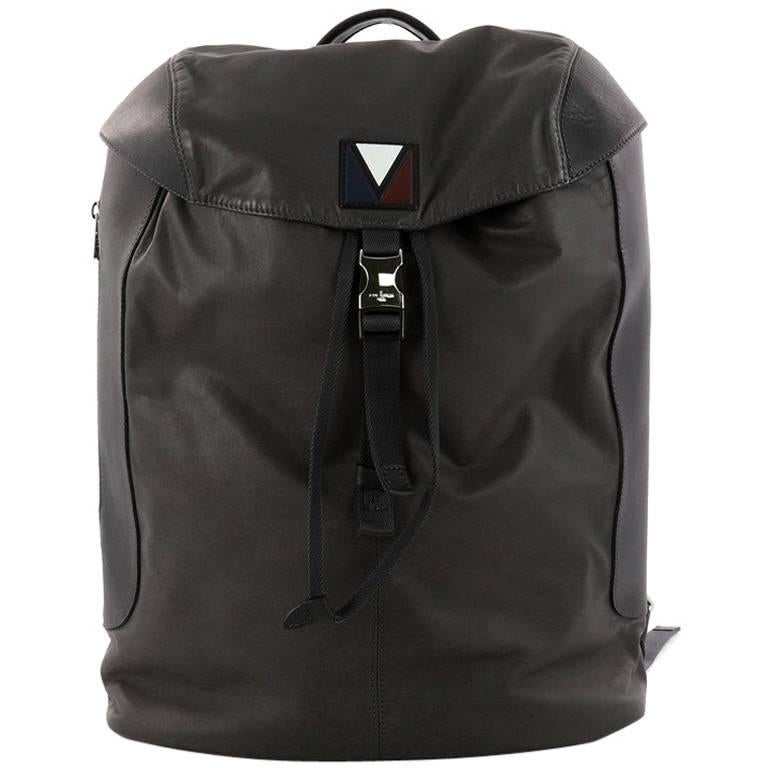 Louis Vuitton Pulse Backpack Leather and Nylon