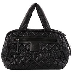 Chanel Coco Cocoon Bowling Bag Quilted Nylon