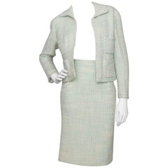 Chanel Green Boucle Ensemble