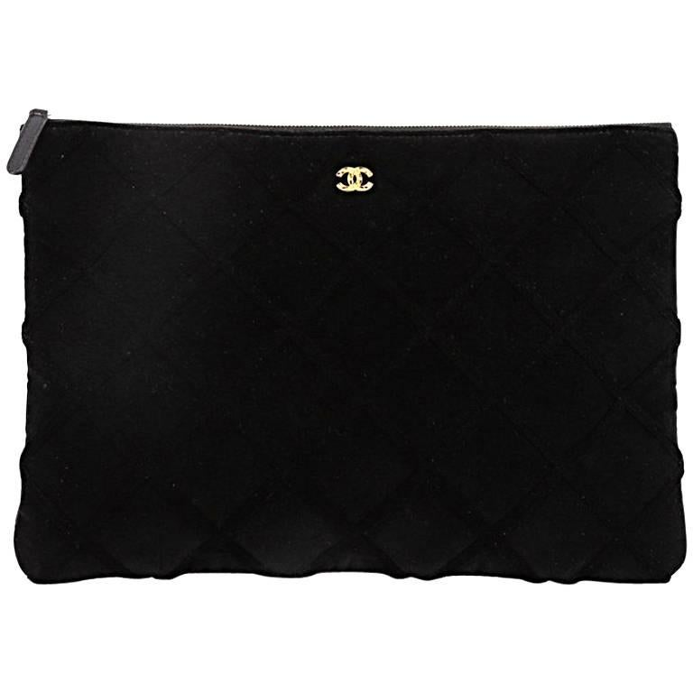Chanel Cosmetic Pouch Quilted Velvet Large
