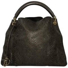 Louis Vuitton Python Artsy in Gris (Brown)