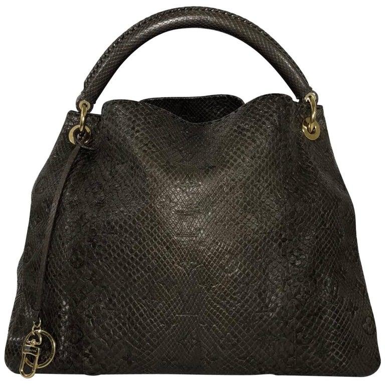 Louis Vuitton Python Artsy in Gris (Brown)