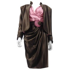 Yves Saint Laurent Haute Couture evening set numbered 65123, Circa 1989