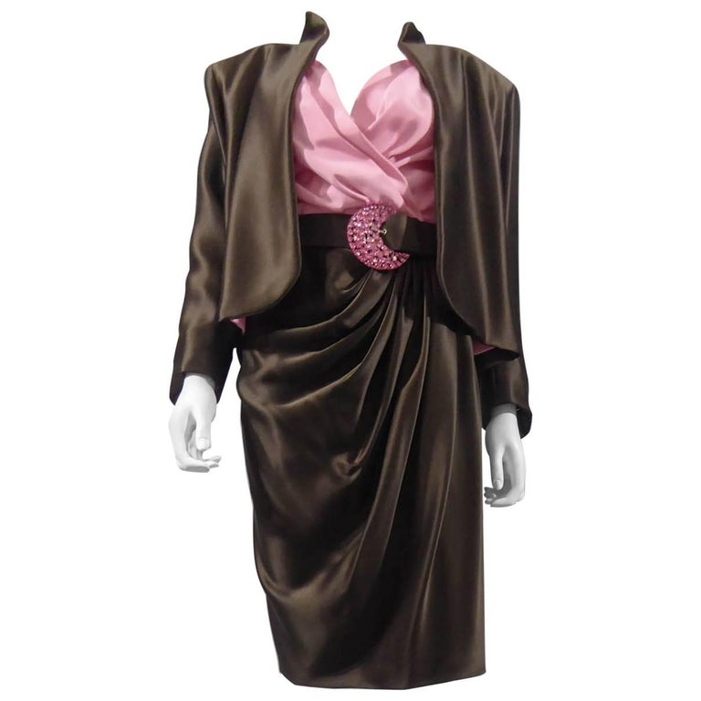 Yves Saint Laurent Haute Couture evening set numbered 65123, Circa 1989 For Sale