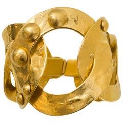 Louis Vuitton Oversized Goldtone Chain Link Bracelet