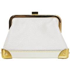 Louis Vuitton White Suhali Porte Monnaie Viennois Coin Purse