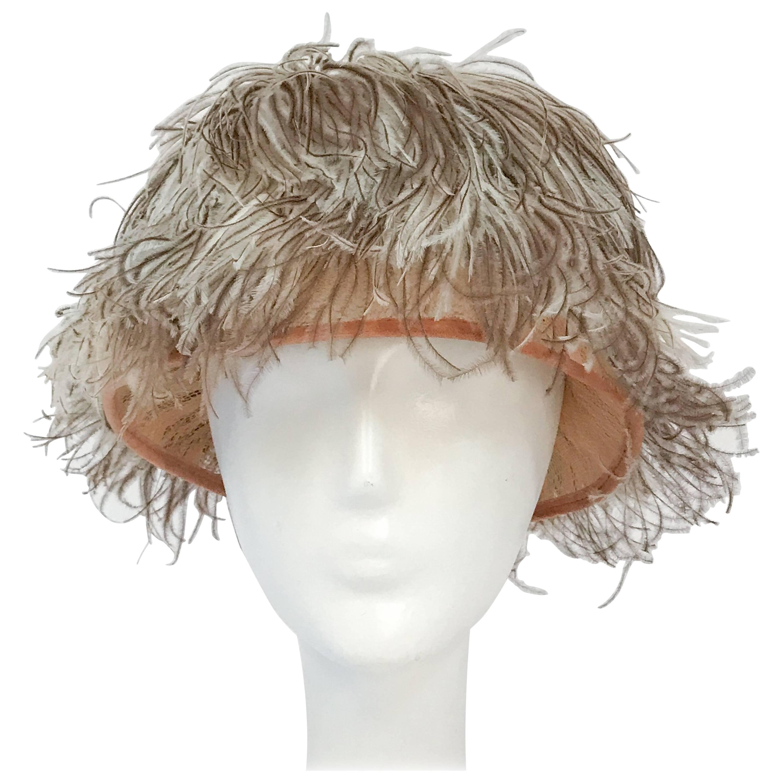1960s Neiman Marcus Feathered Hat with Rhinestone Embellishment