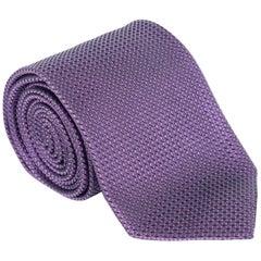 "Tom Ford Mens Purple Woven Pattern Silk 3"" Classic Tie"