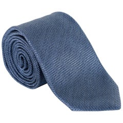 "Tom Ford Mens RTL$260 100% Silk Geometic Pattern 3 1/4"" Dark Blue Tie"
