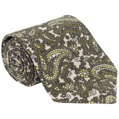 "New Rare Tom Ford Luxurious Green Leaf Floral Paisley 3 1/4"" Tie"