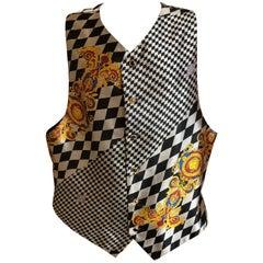 Gianni Versace Atelier Versace Vintage 80's  Op Art Men's Vest