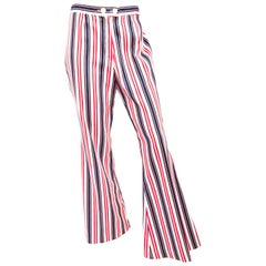 1960s Summer of Love Stripped Flared Pants