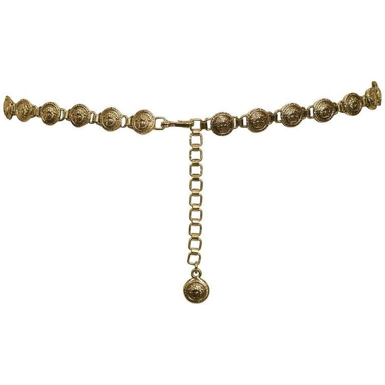 Gianni Versace Gold Tone Vintage Medusa Medallion Belt, circa 1990s