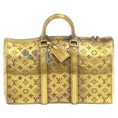 Louis Vuitton Gold Keepall Paperweight-VIP Limited Collectible