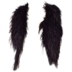 Black fluffy ostrich feather Boho Vest