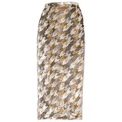 1970s Silky Lurex Metallic Disco Velvet Skirt