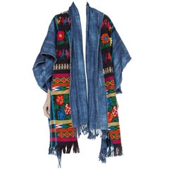 Morphew Indigo Collection Guatemalan & African Ethnic Kimono Jacket