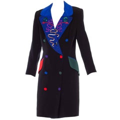 Fabrice Beaded Blazer Working Girl Dress, 1980s