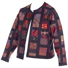Vintage Silk Tie Patchwork Jacket